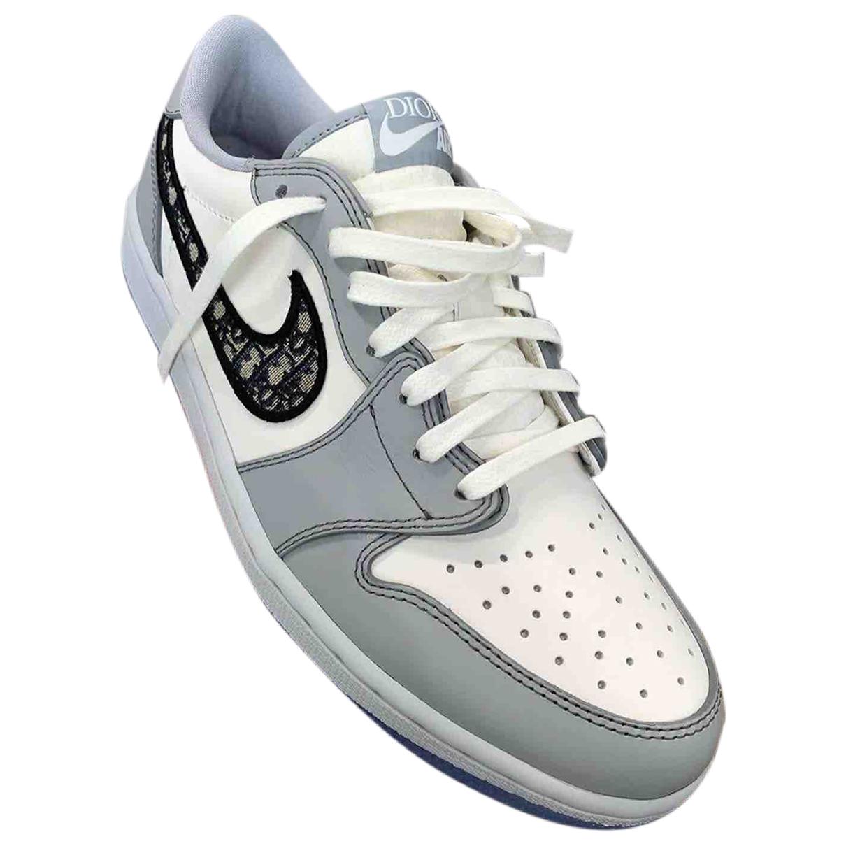 Jordan X Dior \N Sneakers in  Blau Leder