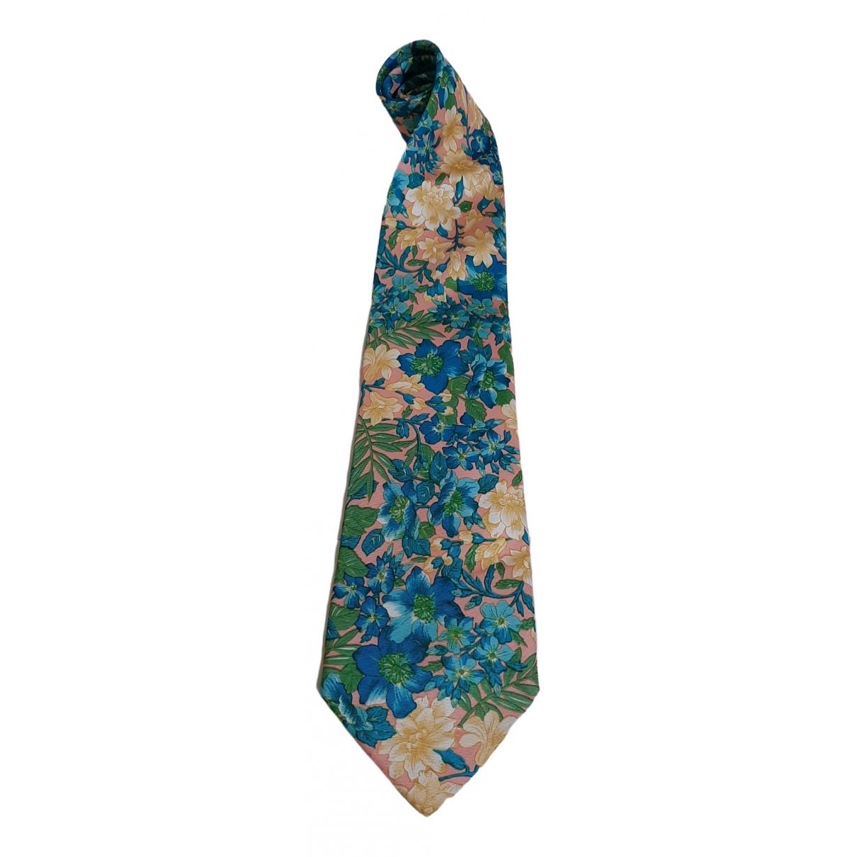 Krizia - Cravates   pour homme en soie - multicolore