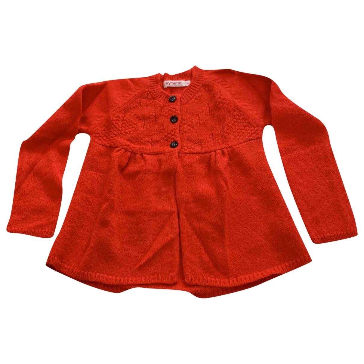 Aymara - Pull   pour enfant en laine - rouge