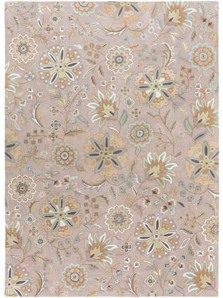 Athena Collection ATH5127-811 Rectangle 8' x 11' Area Rug with Hand Tufting and Wool Material in Blue and Brown