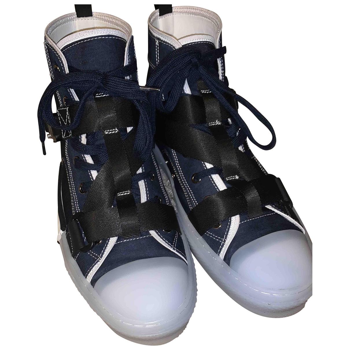 Dior B23 Sneakers in  Marine Leinen