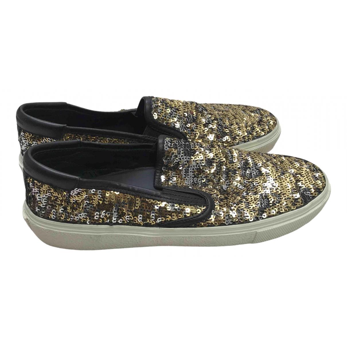 Saint Laurent \N Sneakers in  Gold Mit Pailletten