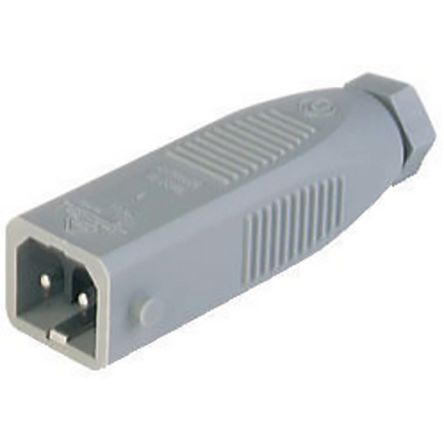 Lumberg Automation , ST IP54 Grey Cable Mount 2P+E Industrial Power Plug, Rated At 16.0A, 230.0 V (100)