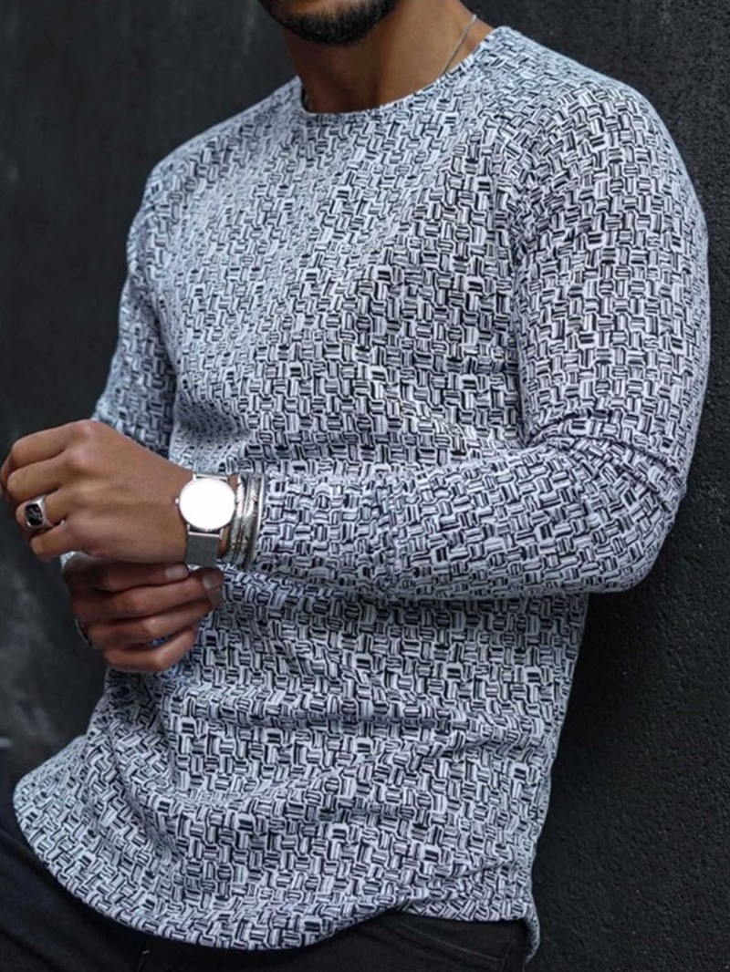 Ericdress Men's Pullover Slim T-shirt