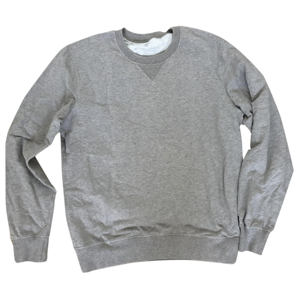 Brunello Cucinelli \N Pullover.Westen.Sweatshirts  in  Grau Baumwolle