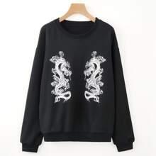 Dragon Drop Shoulder Sweatshirt