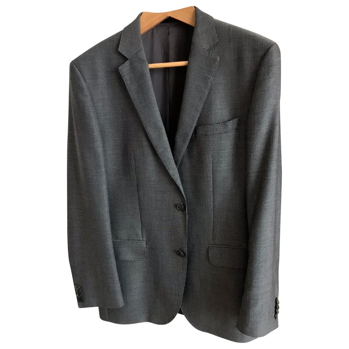 Boss \N Anzuege in  Grau Wolle