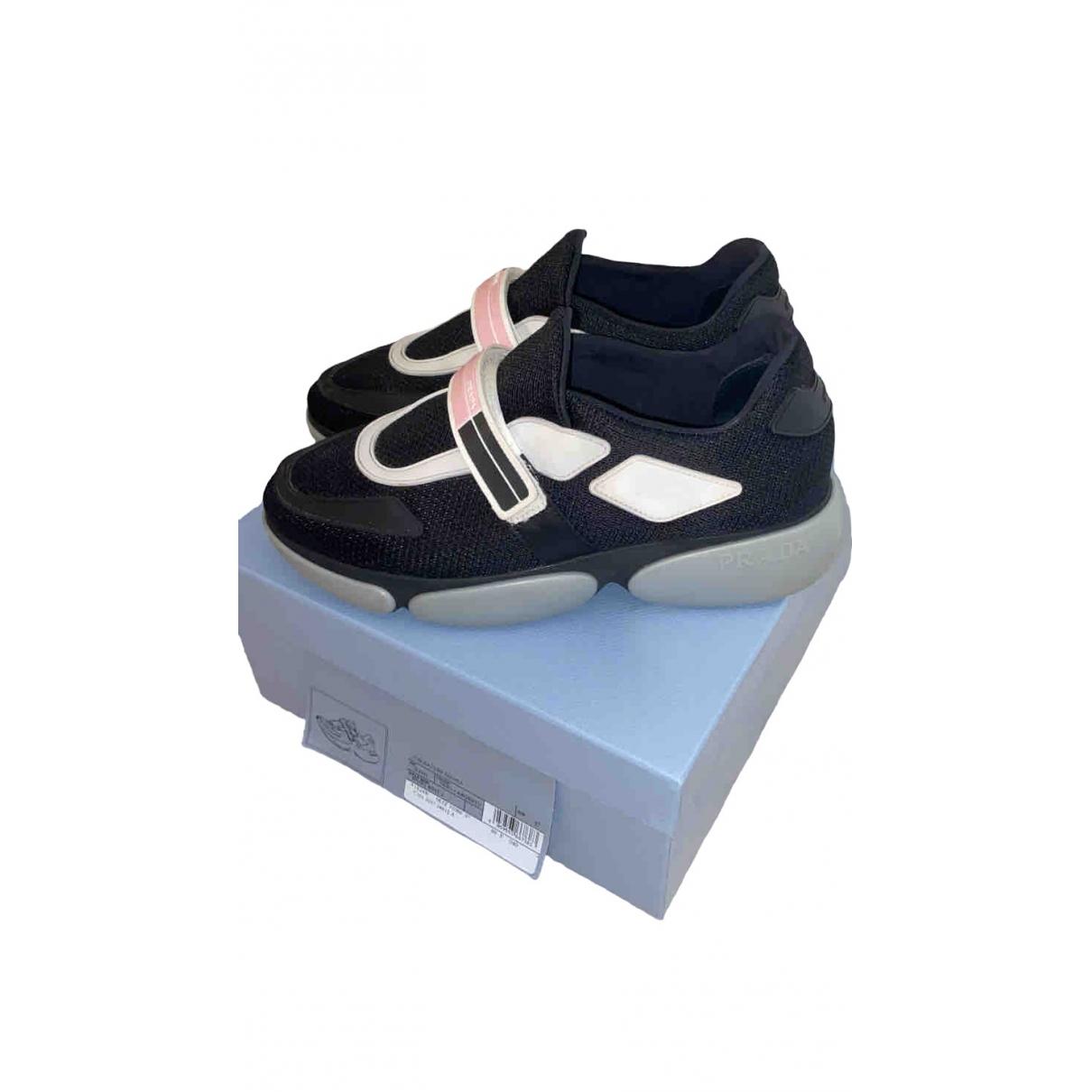 Prada Cloudbust Black Cloth Trainers for Women 37 EU