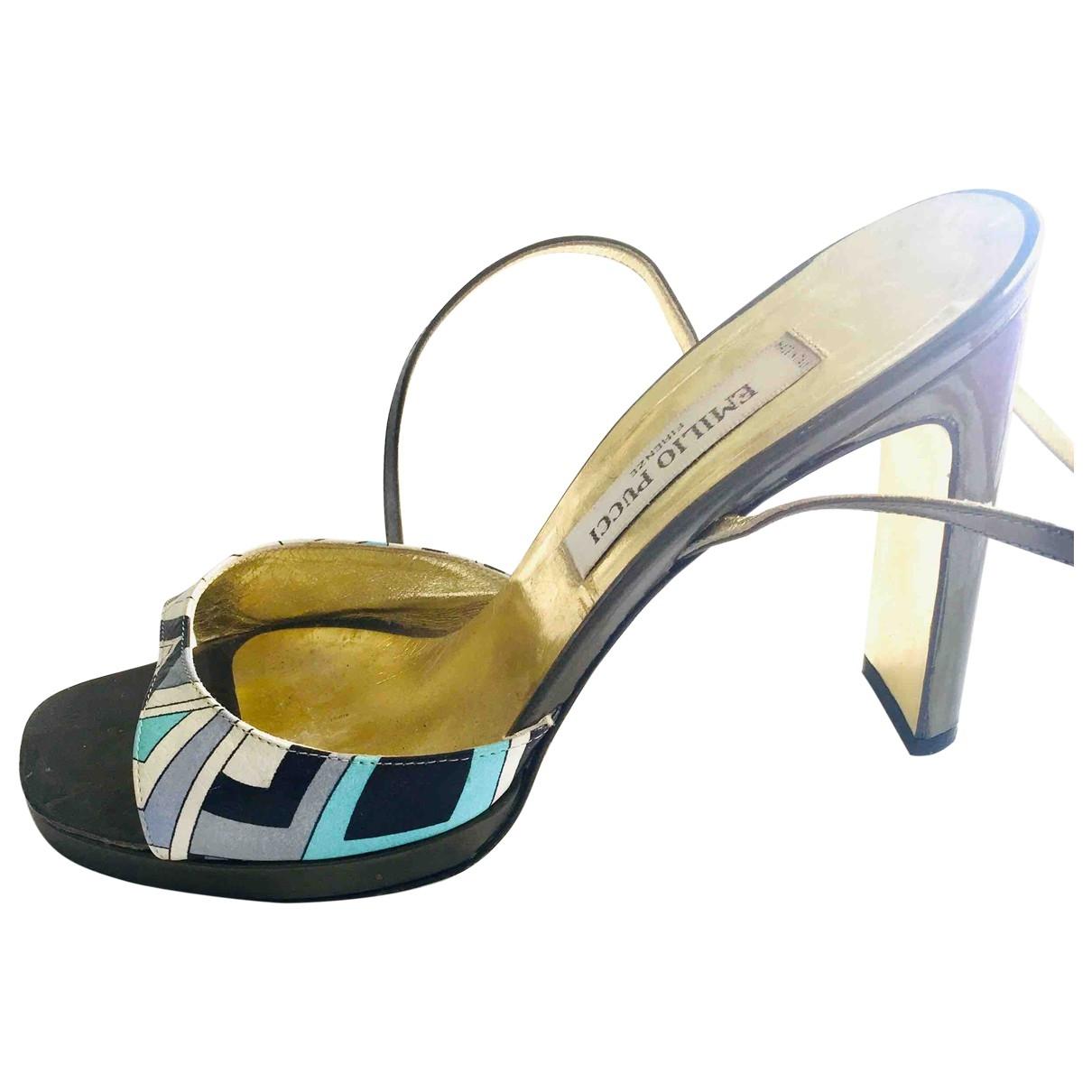Emilio Pucci - Sandales   pour femme en cuir - multicolore