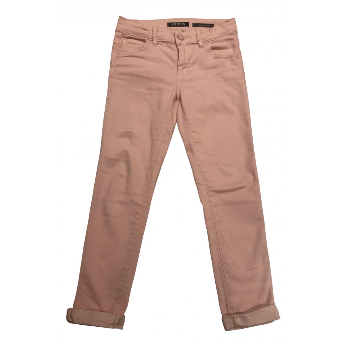 Guess - Pantalon   pour enfant en coton - rose