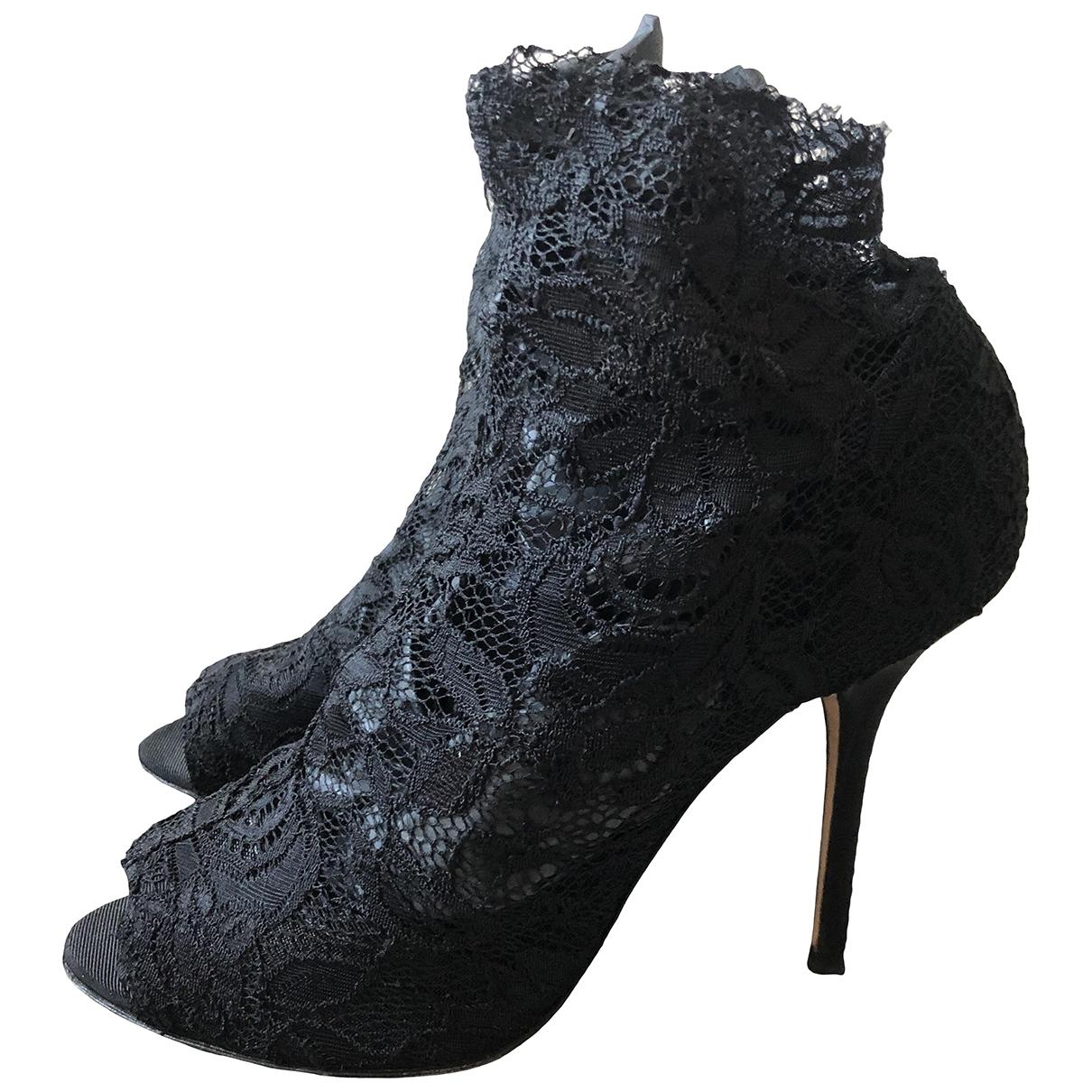 Dolce & Gabbana \N Black Cloth Ankle boots for Women 39 EU