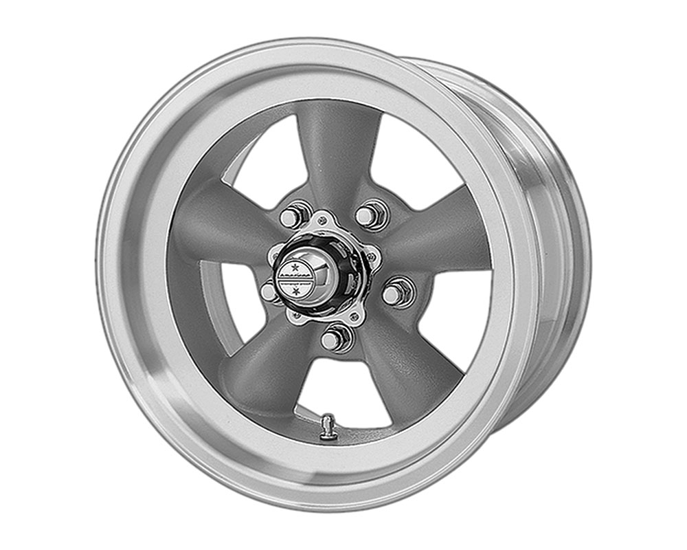 American Racing VN105 Torq Thrust D Wheel 15x7 5x5x114.3 -6mm Torq Thrust Gray Machined Lip