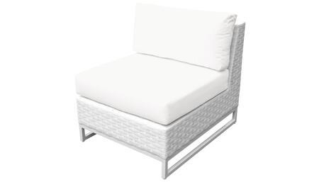 Miami TKC047b-AS-WHITE Armless Chair - 2 Sail White