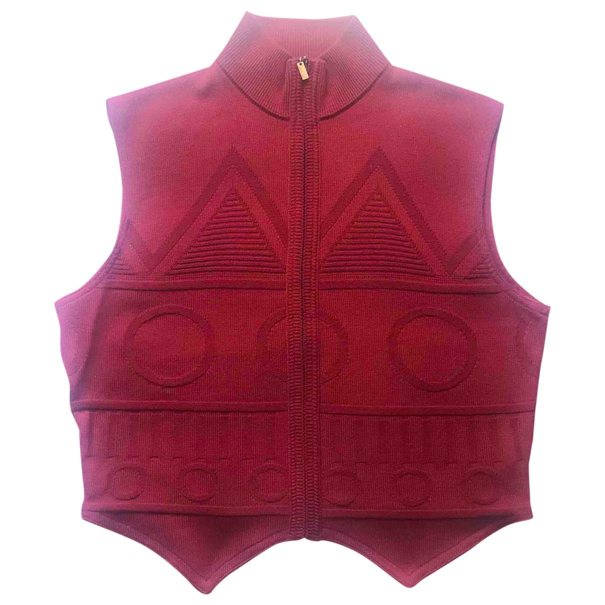 Gianni Versace \N Pullover.Westen.Sweatshirts  in  Rot Wolle