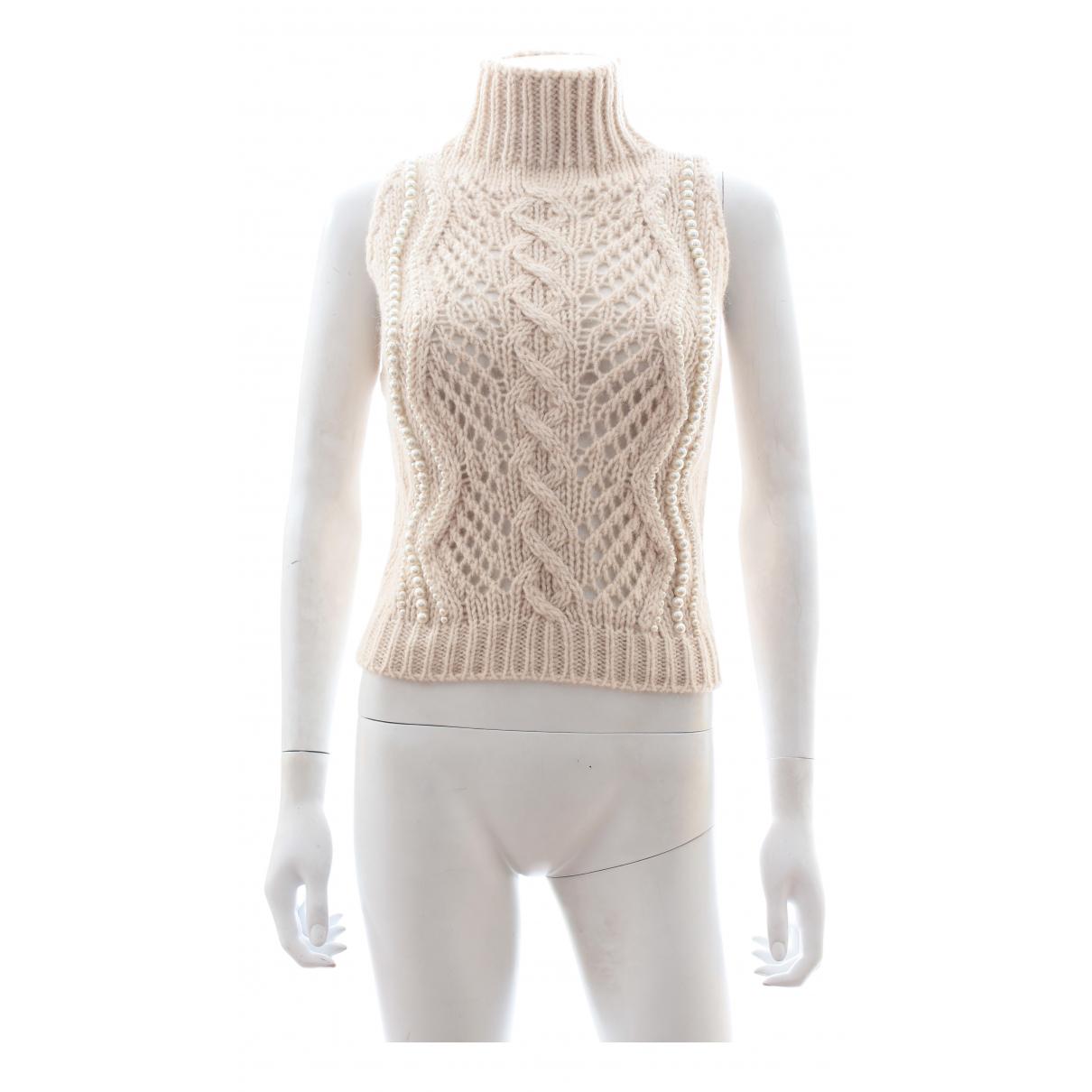 Ermanno Scervino - Pull   pour femme en laine - beige