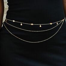 Disc Decor Layered Waist Chain
