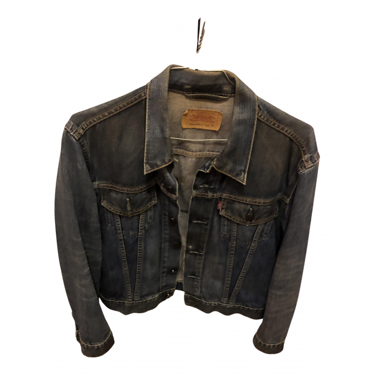 Levi's N Blue Cotton jacket for Women 40 FR