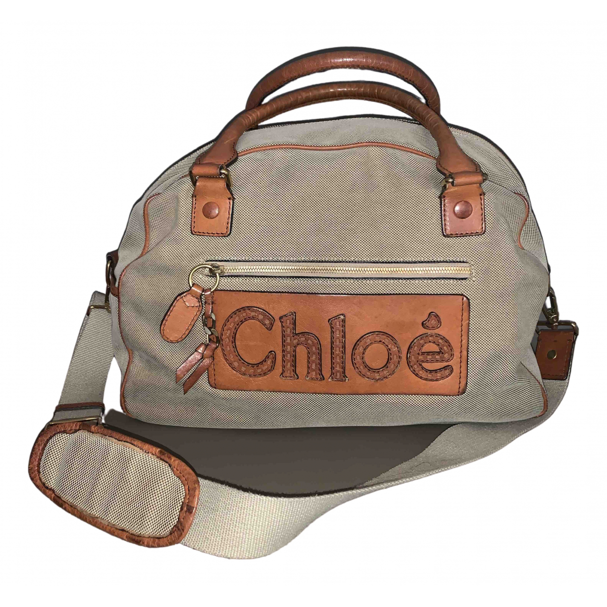Chloé \N Beige Cloth Travel bag for Women \N