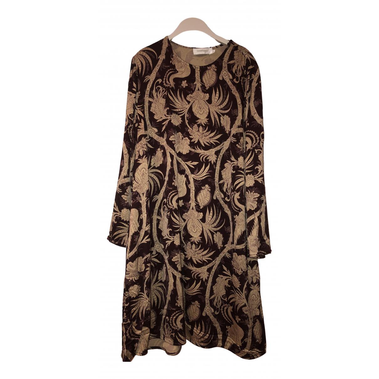 Zimmermann \N Kleid in  Beige Viskose