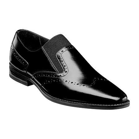 Stacy Adams Mens Kirby Slip-On Shoe, 12 Medium, Black