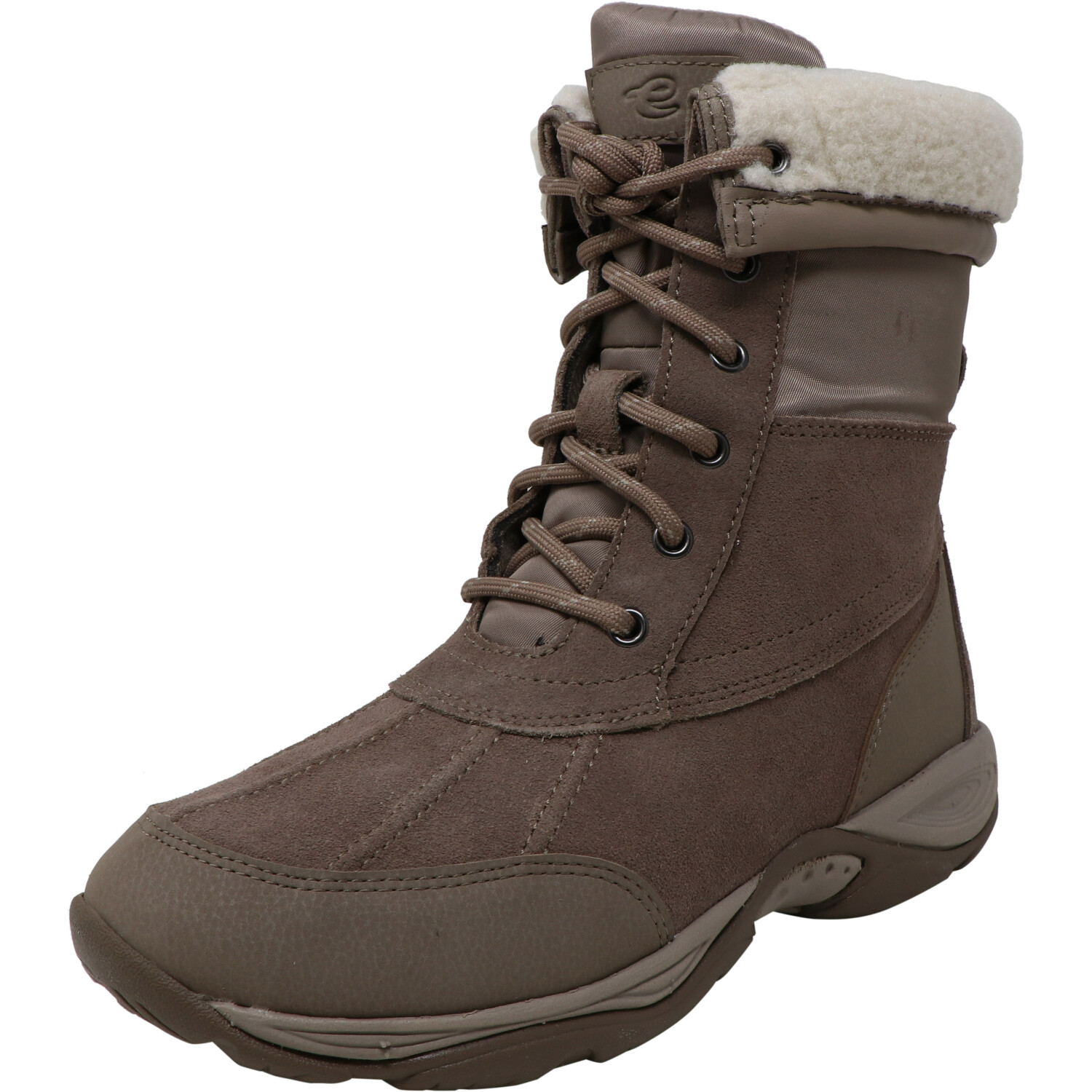 Easy Spirit Women's Elevate Taupe Mid-Calf Leather Boot - 7.5M