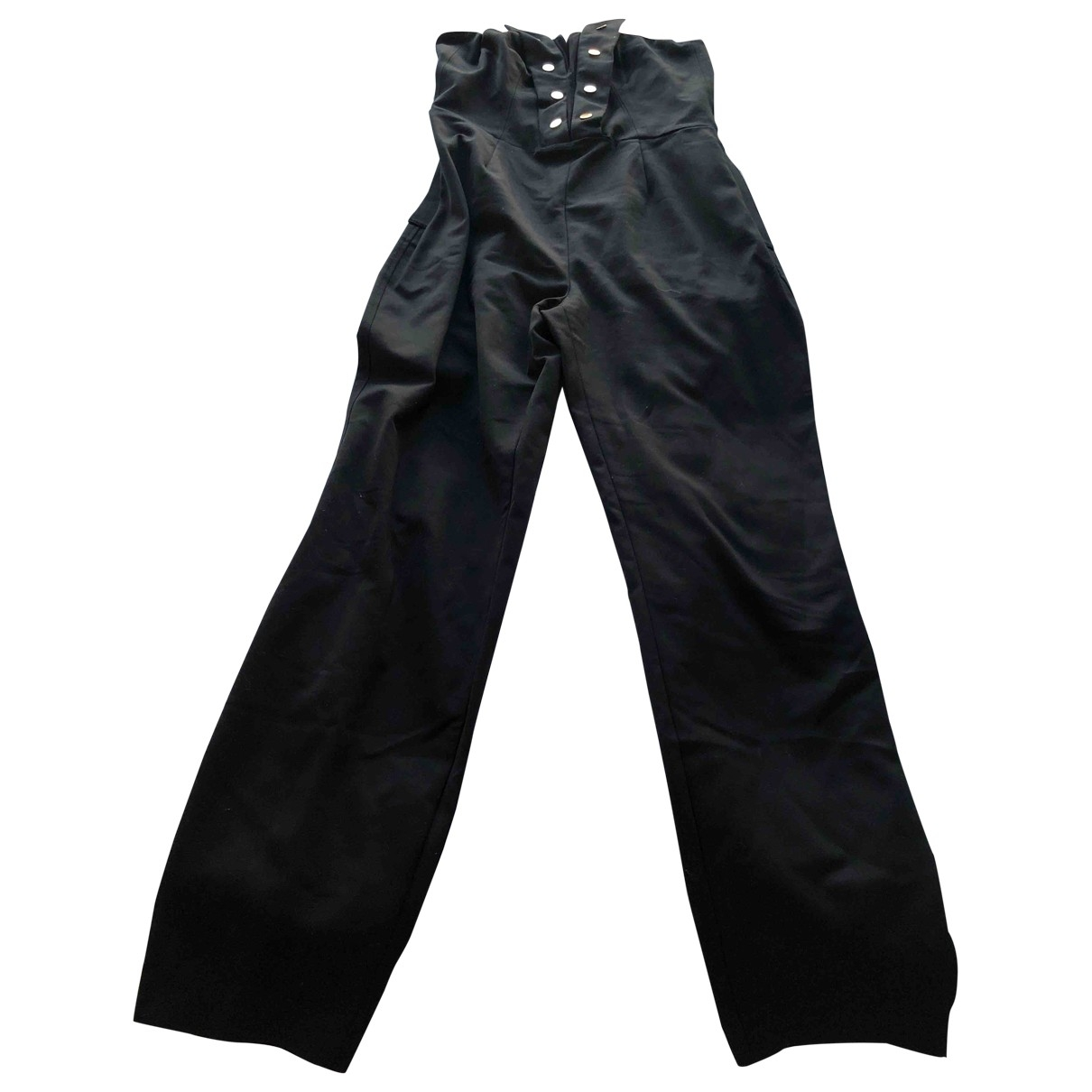Non Signe / Unsigned \N Jumpsuit in  Schwarz Baumwolle