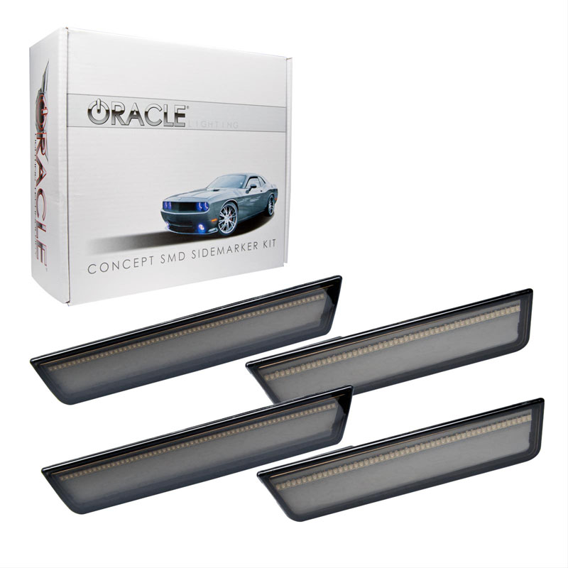 Oracle Lighting 9834-020 2011-2014 Dodge Charger Concept Sidemarker Set (Rear Only) - Tinted - No Paint