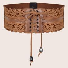 Cinturon ancho con abertura