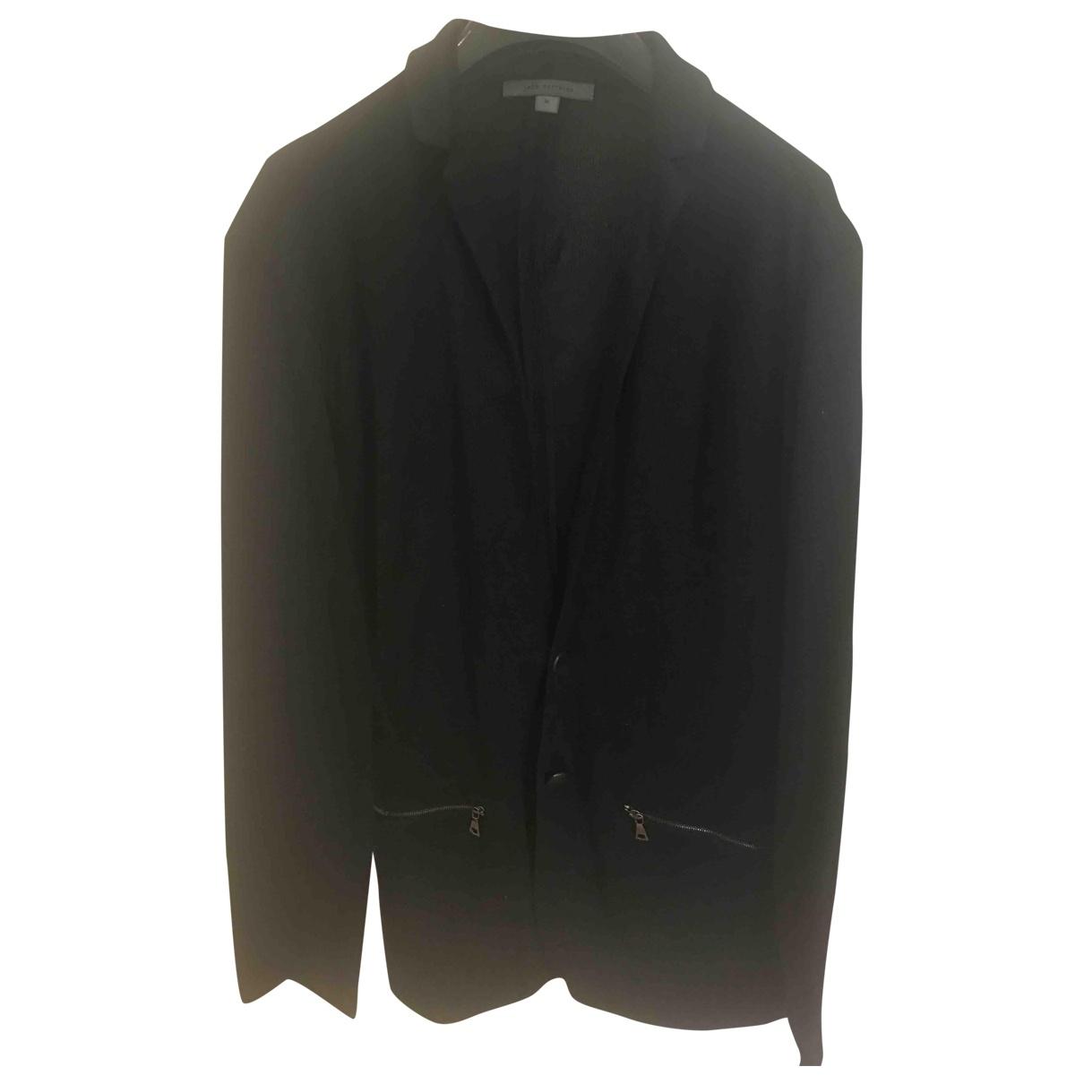 John Varvatos \N Pullover.Westen.Sweatshirts  in  Schwarz Baumwolle