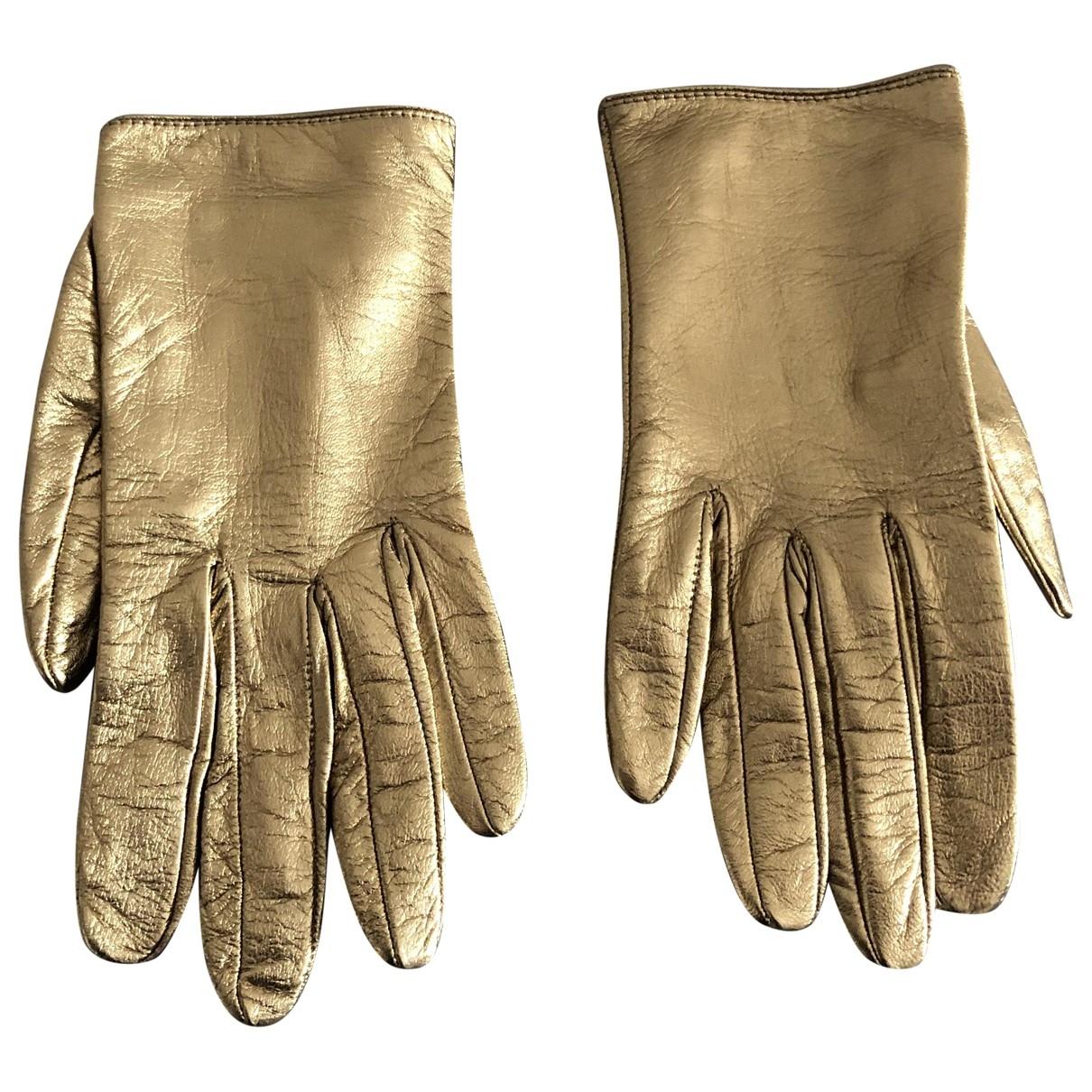 Gucci \N Handschuhe in  Gold Leder