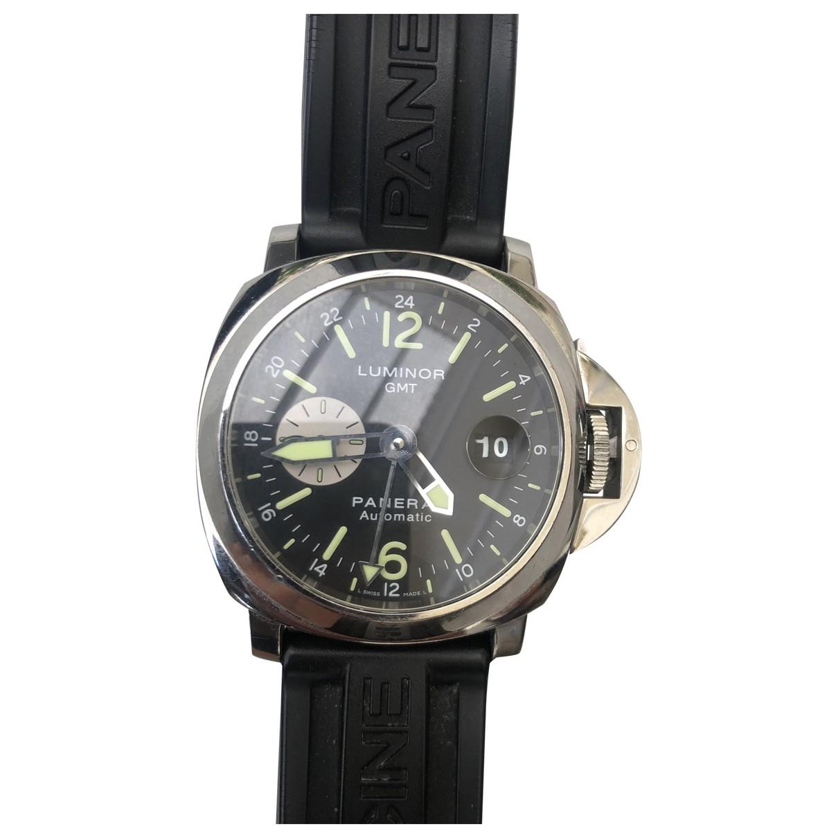 Panerai Luminor  Uhr in  Schwarz Stahl