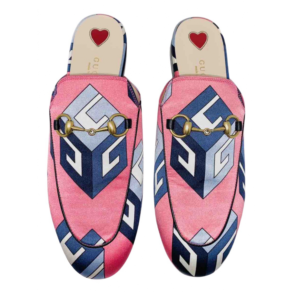 Gucci Princetown Pink Cloth Flats for Women 36 IT