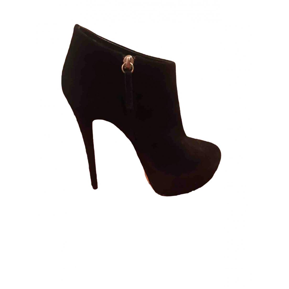 Giuseppe Zanotti \N Black Suede Ankle boots for Women 38 EU