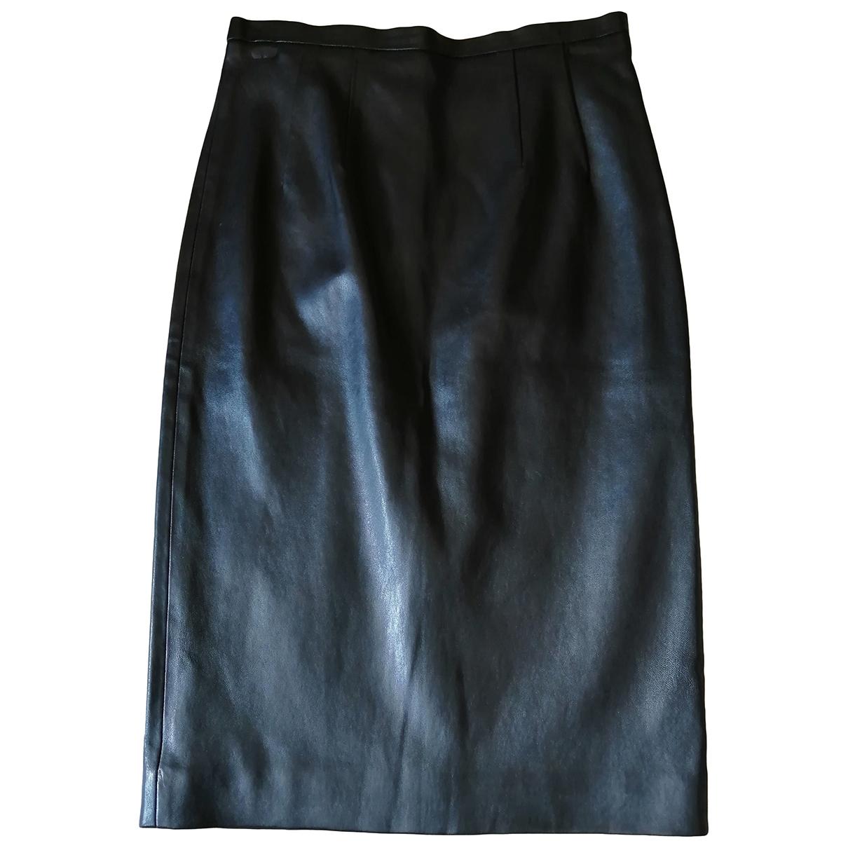 Paul & Joe \N Black Leather skirt for Women 38 FR