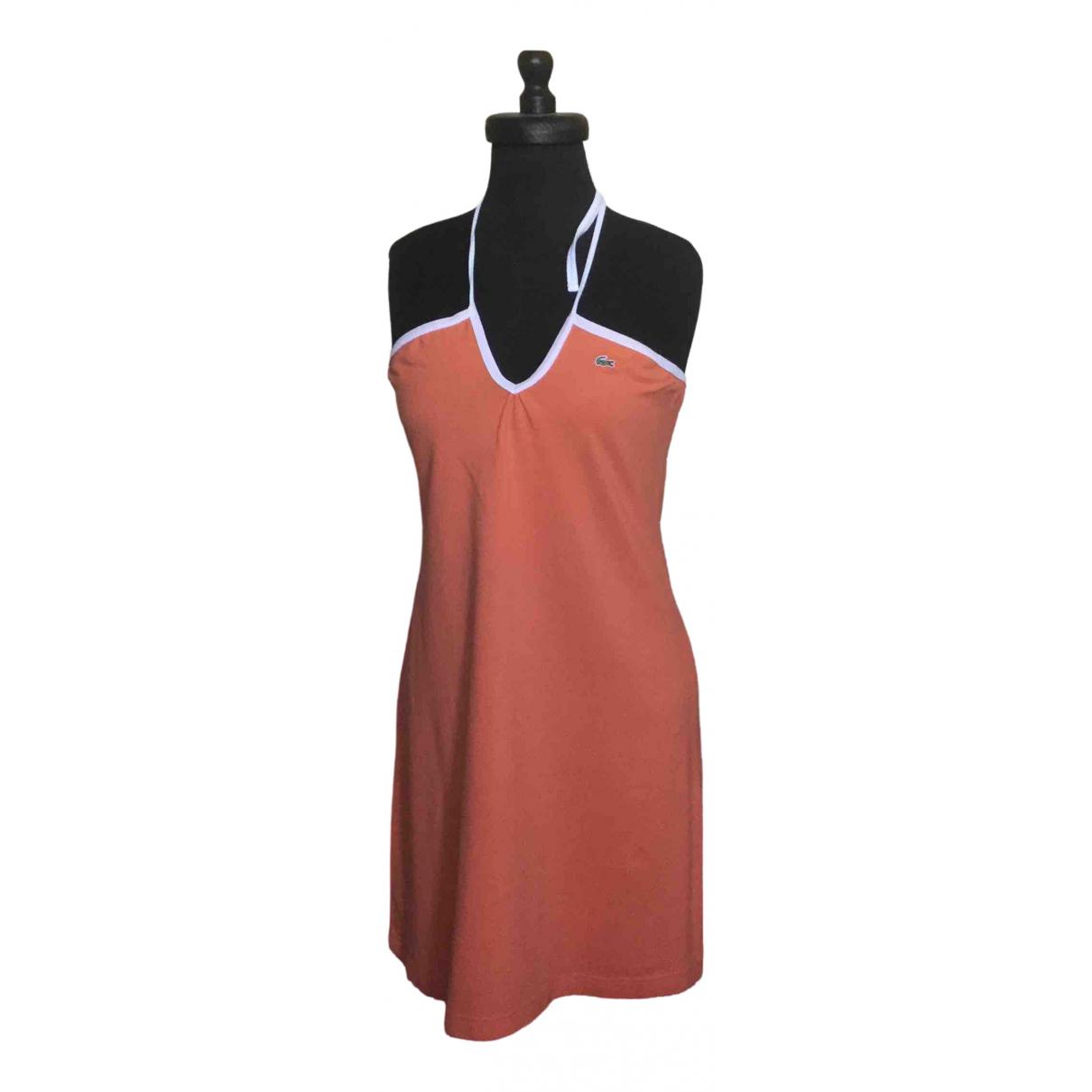 Lacoste \N Orange Cotton - elasthane dress for Women 44 IT