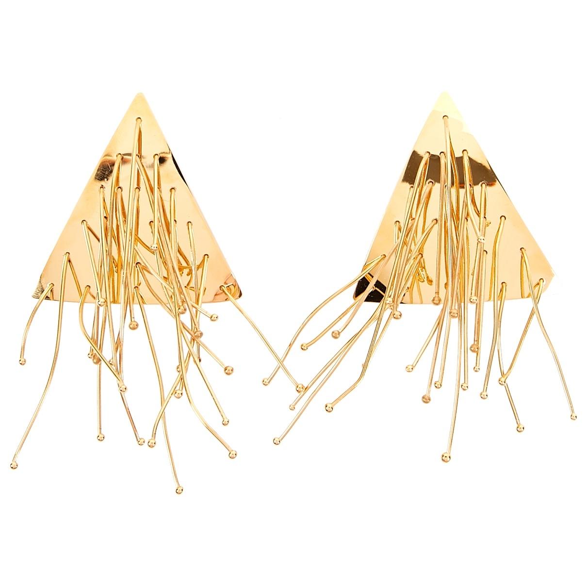 Jil Sander - Boucles doreilles   pour femme en metal - dore