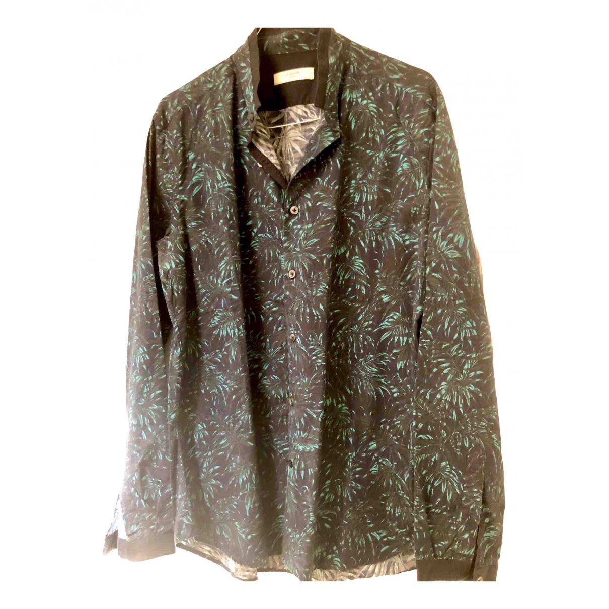 Ly Adams - Chemises   pour homme en coton - bleu