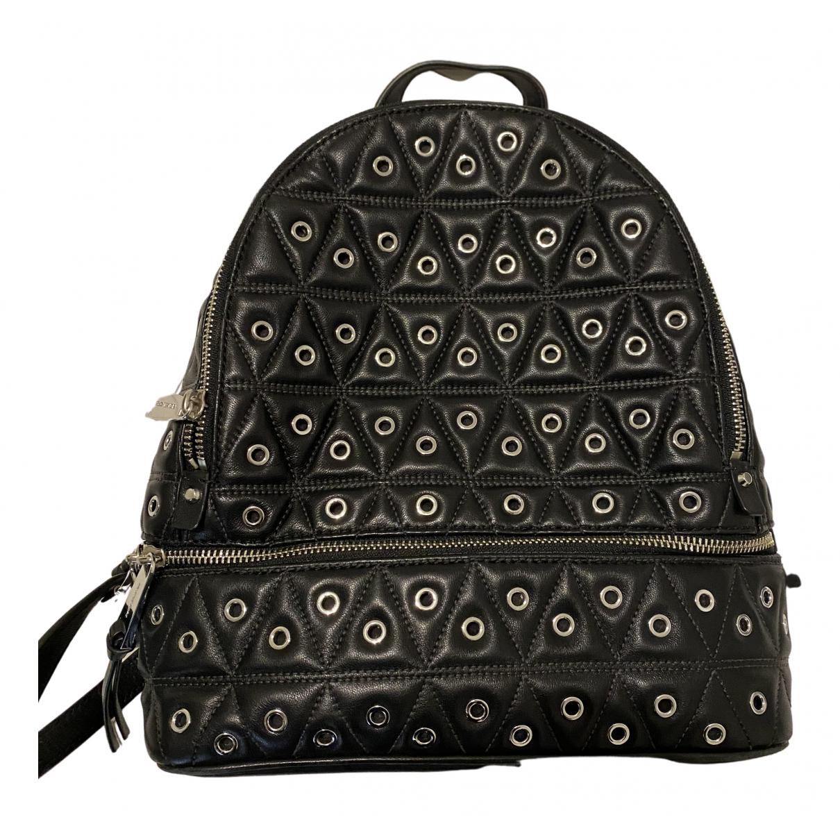 Michael Kors Rhea Black Leather backpack for Women N