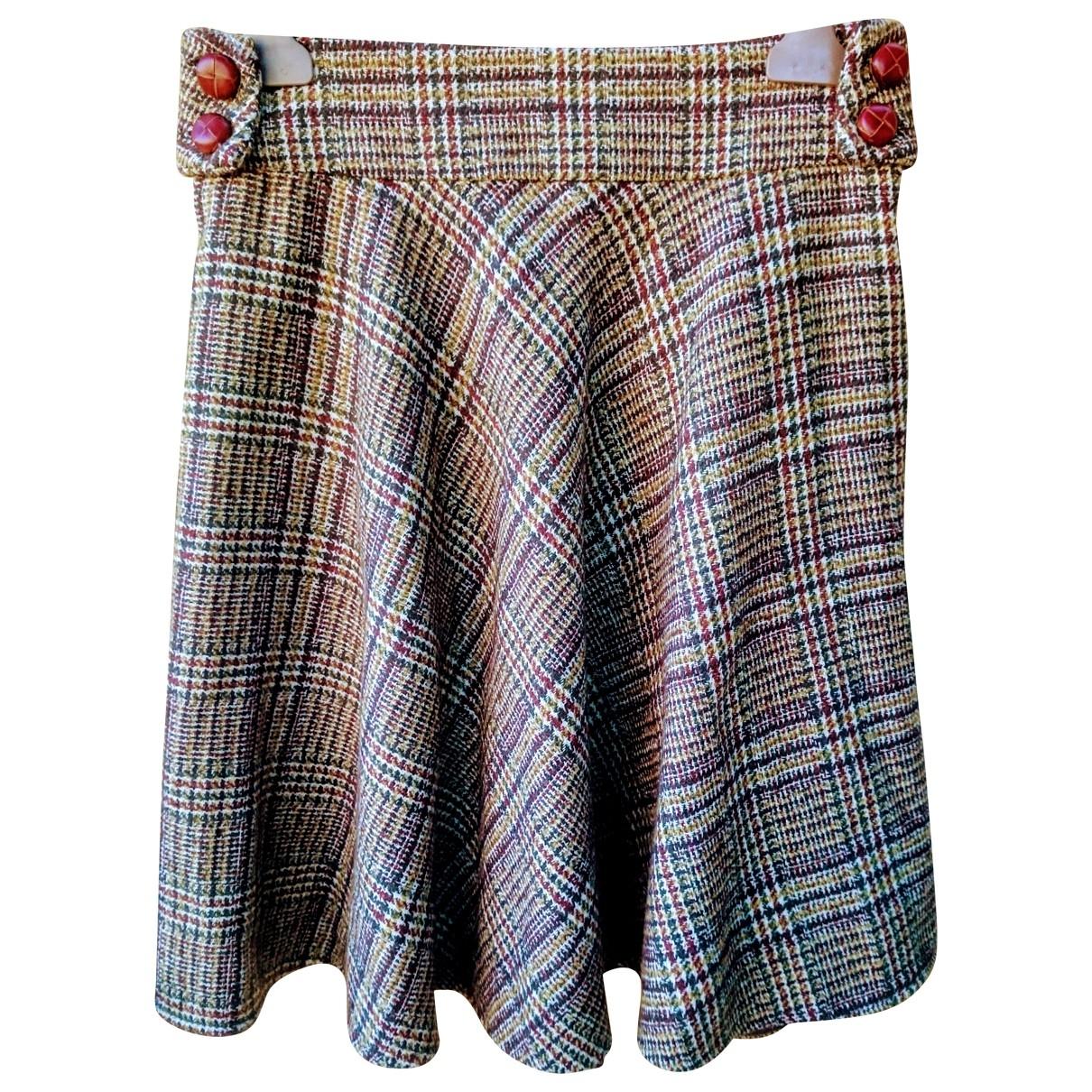 Patrizia Pepe - Jupe   pour femme en laine - marron