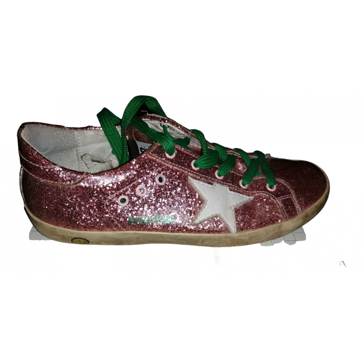 Golden Goose - Baskets Superstar pour enfant en a paillettes - rose