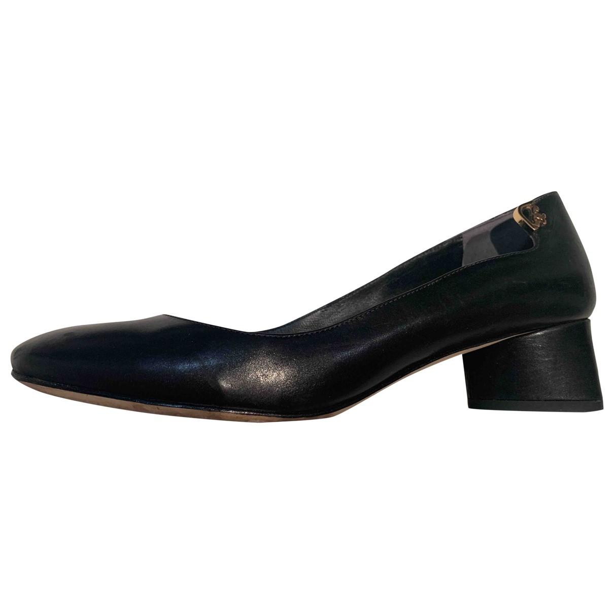 Tory Burch \N Black Leather Heels for Women 7.5 US
