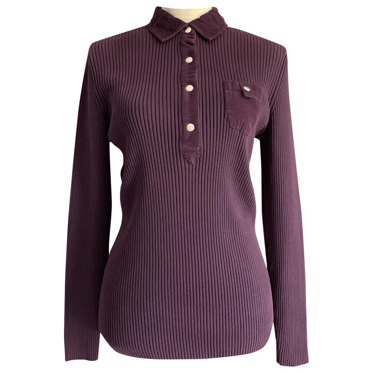 Saint James - Pull   pour femme en coton - violet
