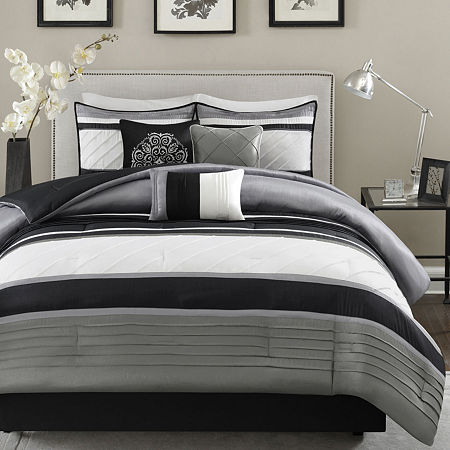 Madison Park Anderson 7-pc. Comforter Set, One Size , Gray
