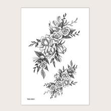Tattoo Aufkleber mit Blumen Muster