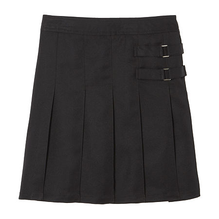 French Toast Little & Big Girls Adjustable Waist Scooter Skirt, 12 , Black