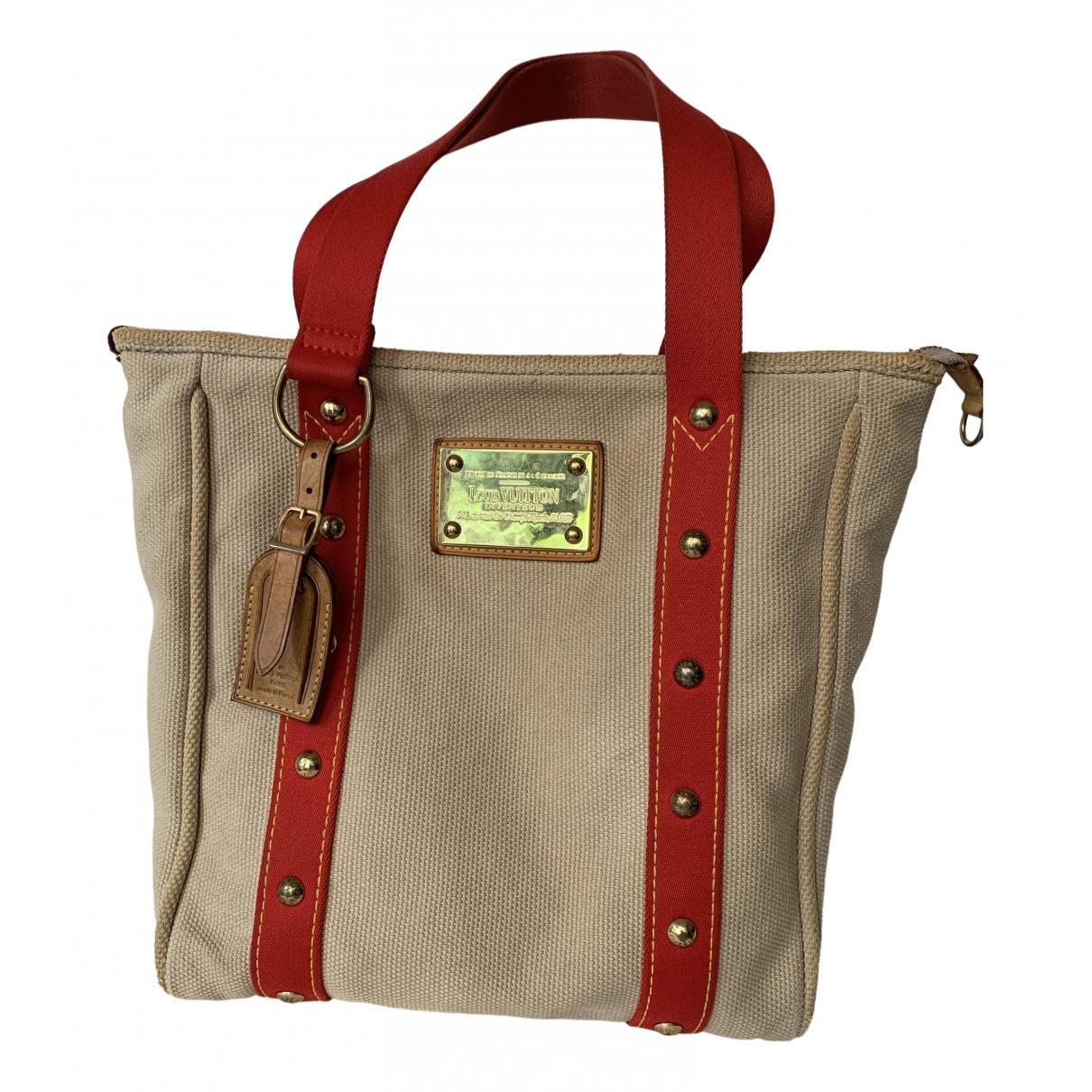 Louis Vuitton Antigua Beige Cloth handbag for Women \N