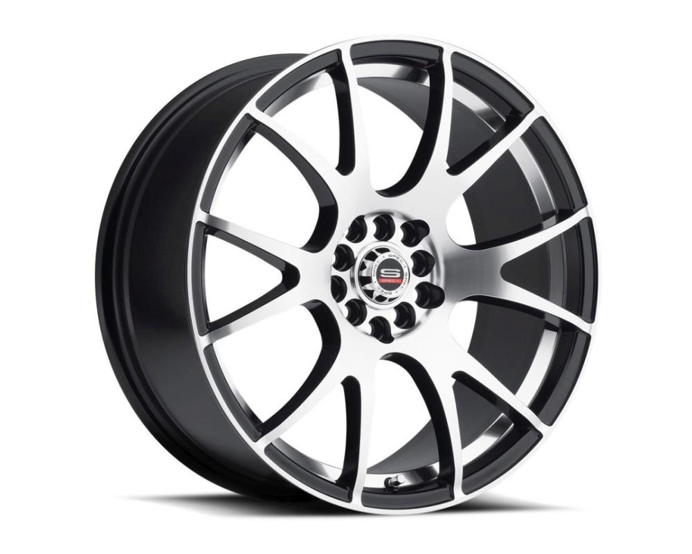 Spec-1 SP-2 Wheel Racing Series 17x8 4x100|4x114.3 38mm Gloss Black Machined w/ Silver Line