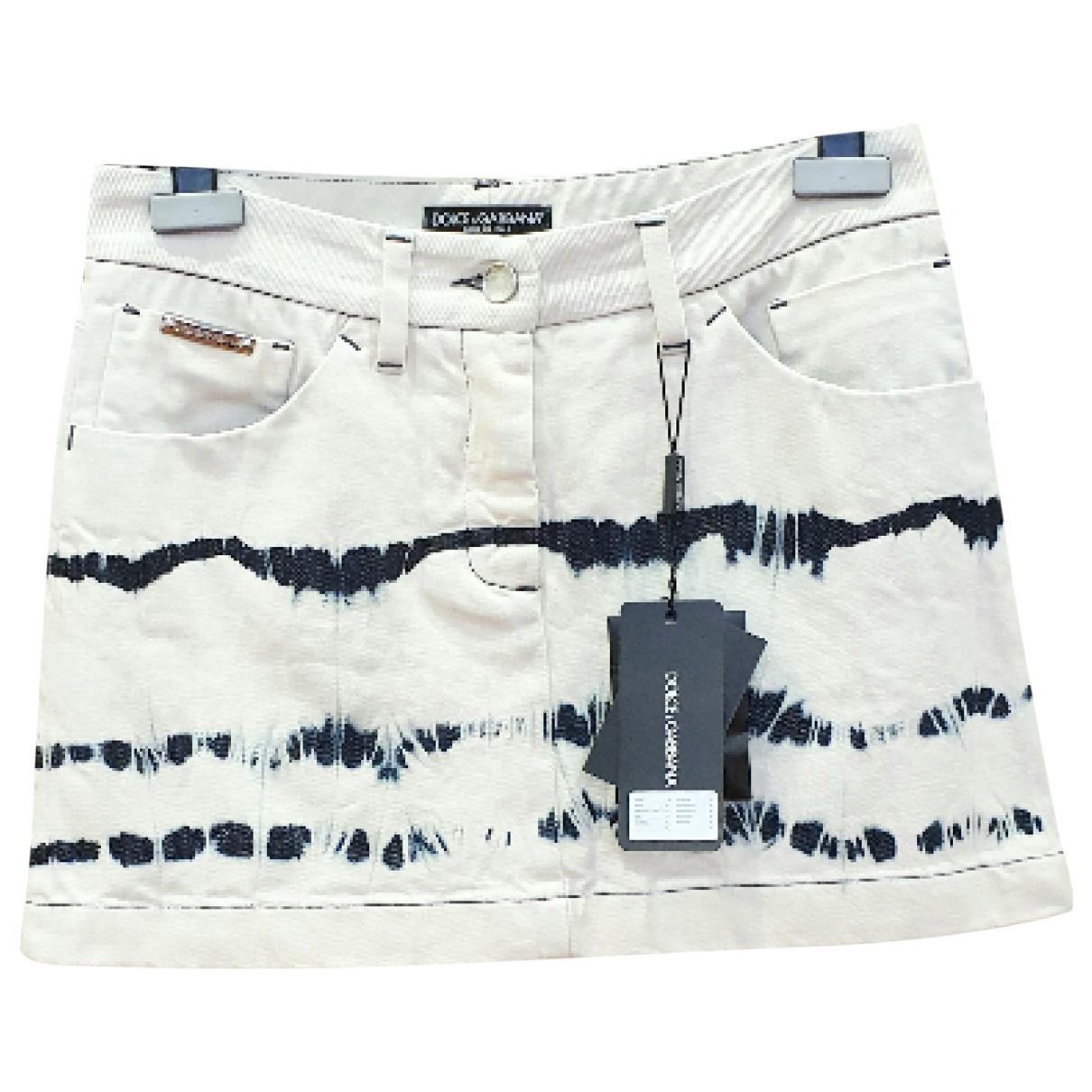 Dolce & Gabbana \N Rocke in  Weiss Denim - Jeans