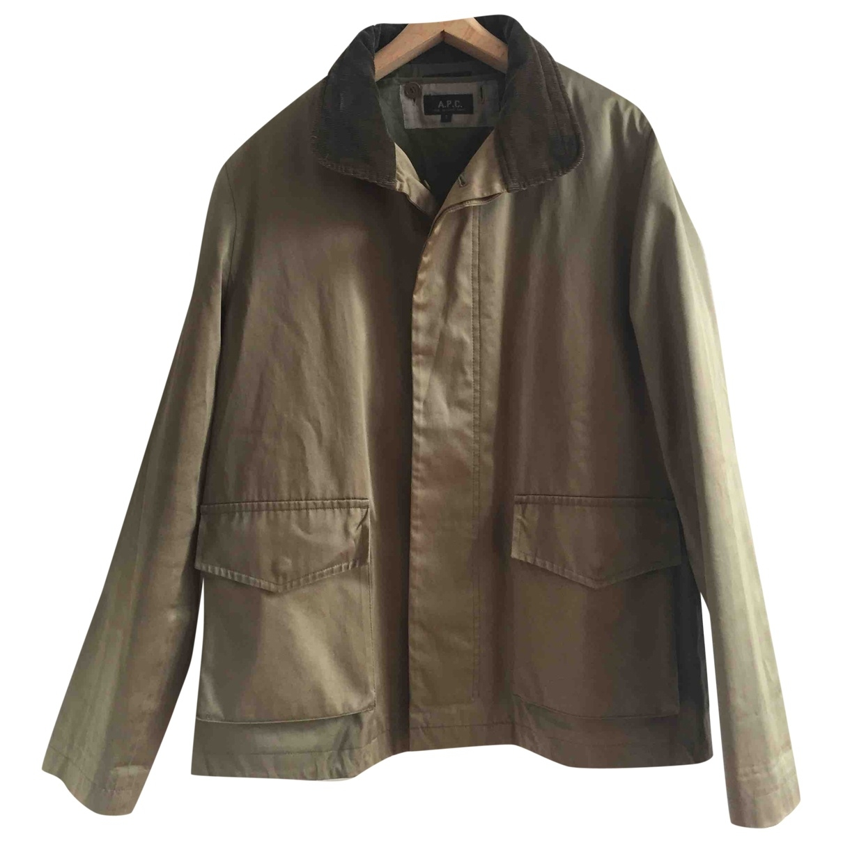 Apc \N Green Cotton Leather jacket for Women S International