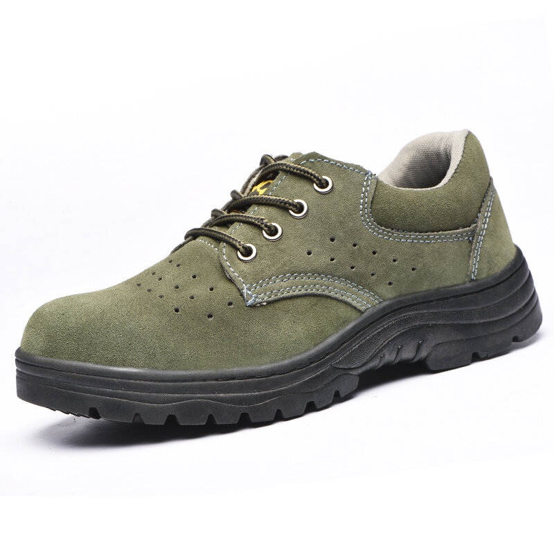 Men Steel Toe Breathable Anti-smashing Casual Safety Work Shoes